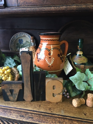 Pottery and Wine Related Decor