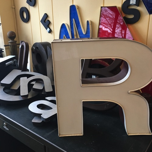 Iconic Sign Letters in Many Shapes and Materials